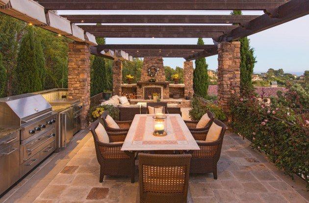 Wonderful Outdoor Dining Area Design And Decorating Ideas: 15 Nápadov Na Krásne Terasy V Rôznych