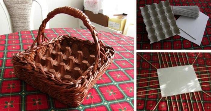 da4573d7f Veľkonočný košík na vajíčka z papiera (Nepotrebujete prútie)