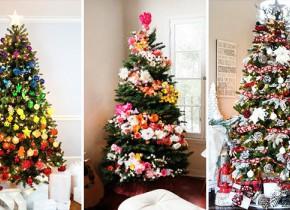 22 nápadov na ozdobené vianočné stromčeky 689a2319233